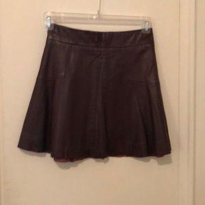 Leather banana republic skirt